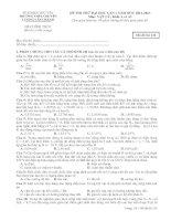 Đề thi thử đại học lần 1 môn Vật lý trường THPT Chuyên Lương Văn Chánh - Phú yên