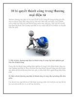 10 bí quyết thành công trong thương mại điện tử doc