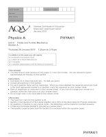 Vật lý A level: AQA PHYA4 1 w QP JAN10