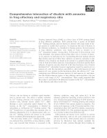 Báo cáo khoa học: Comprehensive interaction of dicalcin with annexins in frog olfactory and respiratory cilia pdf
