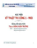 KỸ THUẬT THI CÔNG 1 - MXD - Thi công phần ngầm