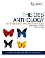 The CSS Anthology: 101 Es sential Tips, Tricks and Hacks docx