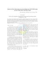 ĐÁNH GIÁ TÍNH THÍCH NGHI CỦA CÁC GIỐNG DƯA TRỜI TRIỂN VỌNG TẠI CÁC VÙNG SINH THÁI KHÁC NHAU pdf