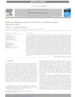 effects of dimensions on the sensitivity of a conducting polymer microwire sensor
