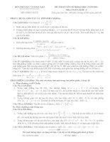 đề thi đại học môn toán năm 2011 khối a