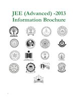 JEE (Advanced) -2013 Information Brochure ppt