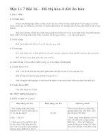 Địa Lí 7 Bài 16 – Đô thị hóa ở đới ôn hòa