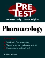 Pharmacology: PreTest Self-Assessment and Review potx
