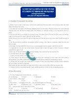 Luyện tập và chữa các câu về thì của động từ trong đề thi đại học (Tài liệu bài giảng) pptx