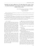 Nghiên cứu đặc điểm dịch tễ lâm sàng rối loạn lo âu ở công nhân may của công ty Lê Trực và Minh Khai thành phố Hà Nội potx