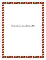 Đề thi giữa kì 1 môn toán 10 - 2001 pptx