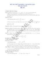 Đề thi thử đại học 2013 Môn Toán khối B Đề 47 docx