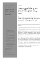 Health-related behavior and quality of life among the elderly: a population-based study pot