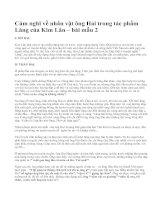 Cảm nghĩ về nhân vật ông Hai trong tác phẩm Làng của Kim Lân – bài mẫu 2