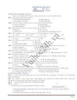 Đề thi và đáp án môn Vật lý lớp 7 pptx