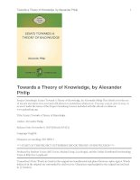 Essays Towards a Theory of Knowledge potx