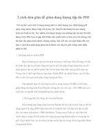 2 cách đơn giản để giảm dung lượng tập tin PDF pdf
