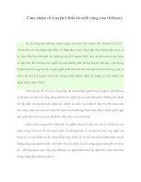 Cảm nhận về truyện Chiếc lá cuối cùng của O.Henry potx