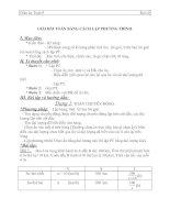 giải bài toán bằng cách lập hệ phương trình - giáo án môn toán lớp 9