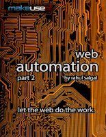 Automation Part 2: Let The Web Do The Work - Rahul Saigal