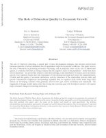 The Role of Education Quality in Economic Growth* pdf