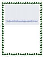 Kỹ năng giao tiếp hiệu quả thông qua ánh mắt và lời nói. pdf
