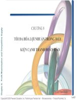 Bài 6 TỐI ĐA HÓA LỢI NHUẬN TRONG ĐIỀU KIỆN CẠNH TRANH HOÀN HẢO (kinh tế vi mô 2)