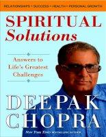 Spiritual solutions by Deepak Chopra pdf