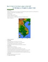 Địa lí 12 bài 2: Vị trí địa lí, phạm vi lãnh thổ pot