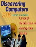 Chương 8: hệ điều hành và chương trình tiện ích ppt