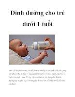 Dinh dưỡng cho trẻ dưới 1 tuổi docx