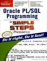 Oracle PL/SQL Programming in Simple Steps pot