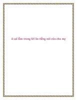 4 sai lầm trong lời ăn tiếng nói của cha mẹ pdf