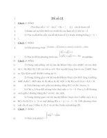 Đề thi thử đại học môn toán năm 2013 - THPT Lý Thường Kiệt - Hải Phòng - Đề số 11 potx