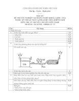 đáp án đề thi lí thuyết tốt nghiệp khóa 2 - kỹ thuật máy lạnh và điều hòa không khí - mã đề thi ktml - đhkk - lt (37)
