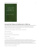 Across the Plains to California in 1852 Journal of Mrs. Lodisa Frizzell pot