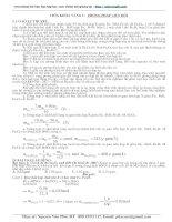 vận dụng phương pháp quy đổi trong giải toán hóa học