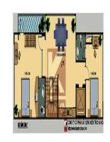Thiết kế nhà ở kết hợp văn phòng trên đất 5,5 x 20m docx