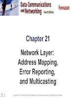 Chapter 21 Network Layer: Address Mapping, Error Reporting, and Multicasting pdf