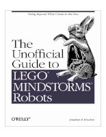 lego mindstorms the unofficial guide to robots jonathan b knudsen pdf