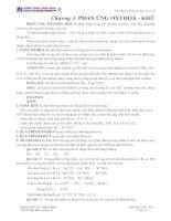 Tóm tắt lý thuyết hoá học vô cơ 10Chương 4: PHẢN ỨNG OXYHOÁ - KHỬ pdf