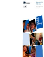 Maternal and Child Health Service Program Standards: Every child, every opportunity doc