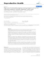 High rate of unintended pregnancy among pregnant women in a maternity hospital in Córdoba, Argentina: a pilot study docx