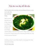 Nên ăn rau đay để tốt sữa pdf