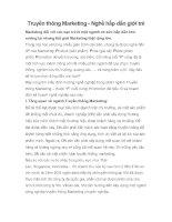 Truyền thông Marketing - Nghề hấp dẫn giới trẻ pdf