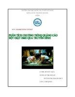 """Đề tài """"Phân tích chương trình quảng cáo bột giặt OMO qua truyền hình của công ty Unilever Việt Nam"""" pdf"""
