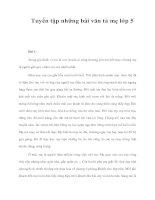 Tuyển tập những bài văn tả mẹ lớp 5 ppt