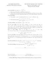đề thi thử đại học lần 1 môn toán khối a, b năm 2014 - trường thpt đoàn thượng