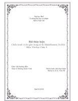 Tiểu luận: Chiến tranh và tôn giáo trong sử thi Mahabharata ppt