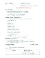 GIÁO ÁN THỰC HÀNH SỐ 6 - BÀY BÀN ÂU CHO BỮA SÁNG pdf